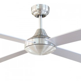"Tempo 48"" AC Timber 4Blade Ceiling Fan - Brushed Chrome"