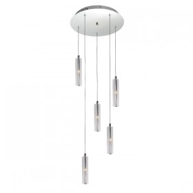 Tina 5 Light Pendant - Clear