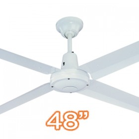 "Typhoon M3 48"" AC Metal 4Blade Ceiling Fan - White"