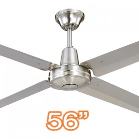 "Typhoon56"" Metal 4Blade Ceiling Fan - 316 Stainless Steel"