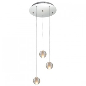 Venice 3 Round Light Pendant - Bubbles