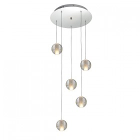 Venice 5 Light Pendant - Bubbles