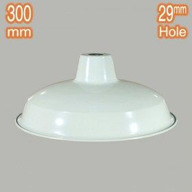 Warehouse 300mm Metal Shade - White