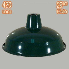 Warehouse 420mm Metal Shade - Green