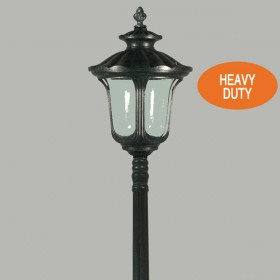 Waterford 1Light Large Top Domain Outdoor Post Light - Antique Black