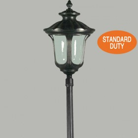 Waterford 1Light Large Top Standard Outdoor Post Light - Antique Black