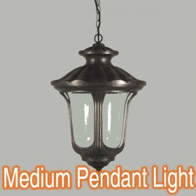 Waterford Medium Chain Pendant Light - Antique Black