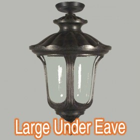 Waterford Large Outdoor Under Eave Light - Antique Black