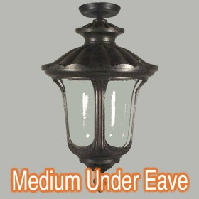 Waterford Medium Outdoor Under Eave Light - Antique Black
