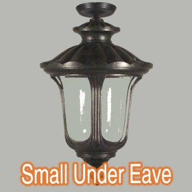 Waterford Small Outdoor Under Eave Light - Antique Black
