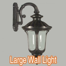 Waterford Large Outdoor Wall Light - Antique Black