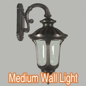 Waterford Medium Outdoor Wall Light - Antique Black