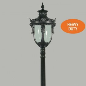 Wellington 1Light Large Top Domain Outdoor Post Light - Antique Black
