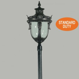 Wellington 1Light Large Top Standard Outdoor Post Light - Antique Black