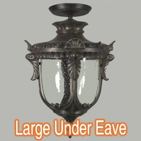 Wellington Large Outdoor Under Eave Light - Antique Black