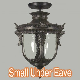 Wellington Small Outdoor Under Eave Light - Antique Black