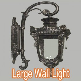 Wellington Large Outdoor Wall Light - Antique Black