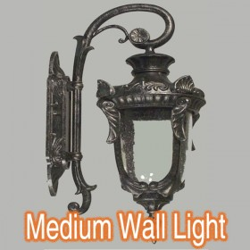 Wellington Medium Outdoor Wall Light - Antique Black