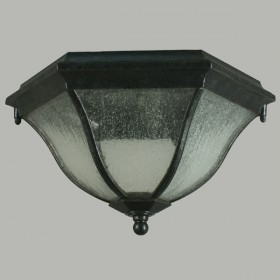 Wickham Outdoor Under Eave Light - Antique Black