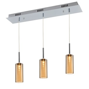 Modern Amber Glass Lighting Kitchen Ceiling Light
