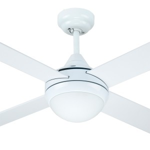"""Timber Ceiling Fans Azure Bedroom Quiet 48"""" with Light AC White Hunter Pacific"""
