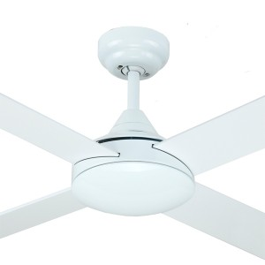 """Azure 48"""" AC Timber Bedroom Ceiling Fans White Hunter Pacific"""