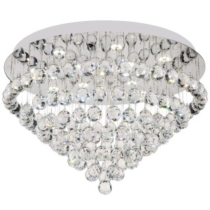 Crystal Lighting Flush CTC Close to Ceiling Lights Round Bling Modern