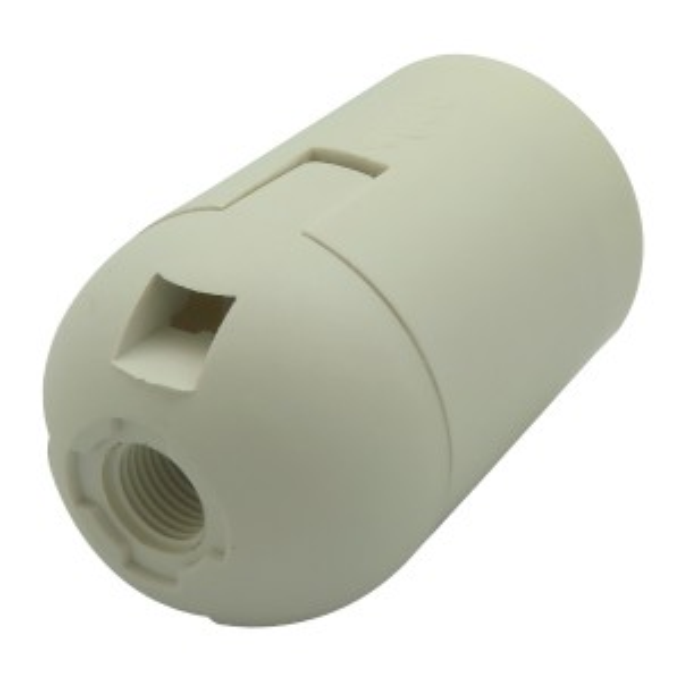 White E27 Plastic Bulb Holder 240v Bakelite
