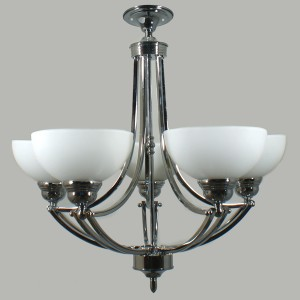 Houston 5 Lights Flush CTC Ceiling Lighting Chrome Contemporary