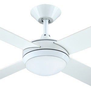 """LED White Ceiling Fans Intercept2 52"""" Dimming Light AC Plywood Hunter Pacific"""