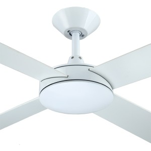 """White Ceiling Fans Bedroom Quiet Intercept2 52"""" AC Plywood Hunter Pacific"""