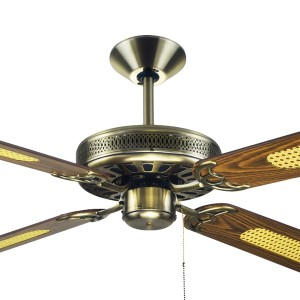 """Antique Brass Ceiling Fans Traditional Majestic Coolah 52"""" AC Timber Hunter Pacific"""