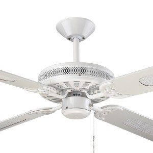"""Majestic Traditional Ceiling Fans Coolah White 52"""" AC Timber Hunter Pacific"""