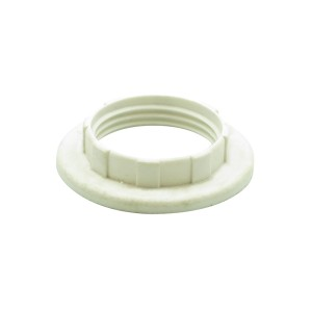 E14 B15 Plastic Shade Ring White