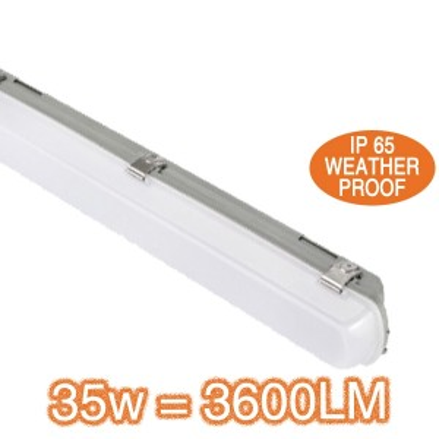 35w IP65 Weatherproof Lights LED Batten Lighting Exterior Basement Carpark
