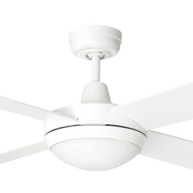 "LED Tempest Ceiling Fans Bedroom 52"" AC Timber White Brilliant Lighting"