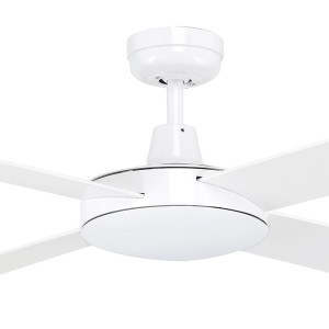"""Bedroom Ceiling Fans Tempest 52"""" AC Timber White Brilliant Lighting"""