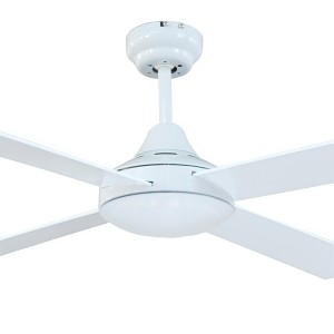 """Tempo 48"""" AC Timber Bedroom Ceiling Fans White Brilliant Lighting"""