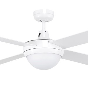 """Tempo 48"""" with Light AC Timber Ceiling Fans White Brilliant Lighting"""