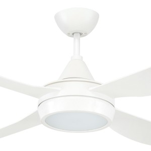 LED 52inch Vector Ceiling Fans Coastal AC ABS Resin White Brilliant Lighting