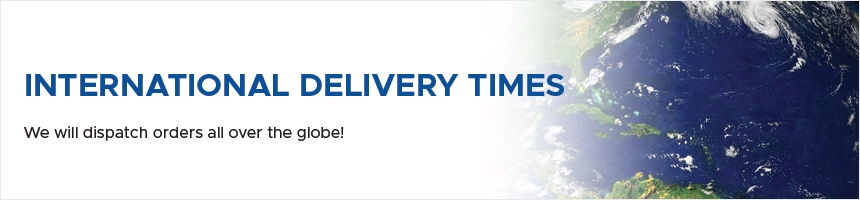 International Delivery Times @ Mica Lighting