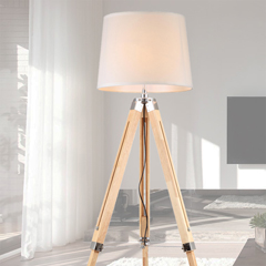 Floor & Table Lighting - Timber, Wooden & Bamboo