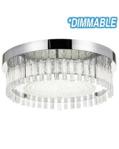 LED Oyster Lights Telbix Dimmable Andela 30w Round Ceiling Lighting