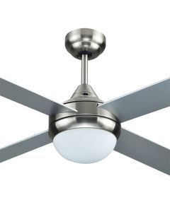 "Azure 48"" with Light AC Timber Ceiling Fans Brushed Nickel Hunter Pacific"