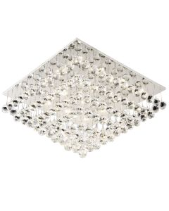 Dimming LED Flush Lights Bliss Crystal Ceiling Lighting Square CTC