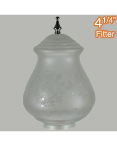 Chrome Cambridge Large Frost Etched Glassware Shades Lights