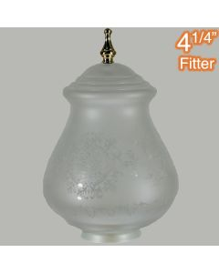 Cambridge Large Frost Etched Glassware Shades Lights Polished Brass