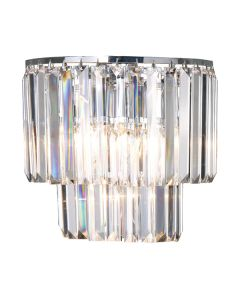 Wall Sconce Lights Celestial Chrome Lighting Crystal Lode International