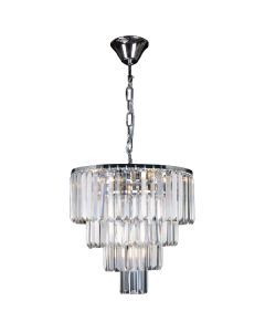 Crystal Chandelier Celestial 5 Lights Lighting 4 Tier Chrome Pendants Lode International