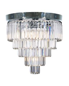 Celestial Flush Lighting Classical Crystal Chrome Ceiling Lights Lode International
